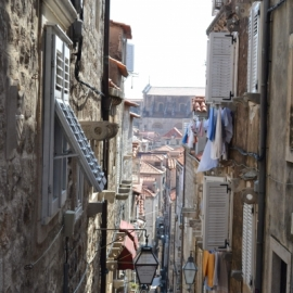 Boczna uliczka Dubrownika